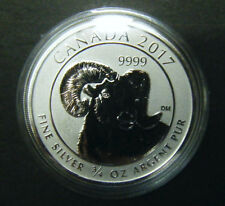 2017 Canada $2 Big Horn Sheep 3/4oz reverse proof Silver Bullion Coin 0.75