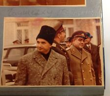 Photo Book Political leaders Brezhnev,Suslov,Chaushesku Cosmodrome Baikonur 70s