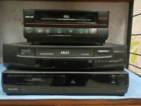 Lot 3x Vhs Vcr akai inno hit philips Da Riparare