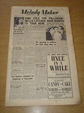 MELODY MAKER 1950 JULY 29 KING COLE TRIO PERRY COMO HELEN MACK FELIX KING +
