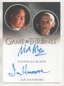 Game of Thrones DUAL Auto Trading Card Nicholas Blane & Ian Hanmore