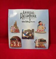 Buy One Set Get One Free DISNEY WDW ANNUAL PASSHOLDER 2014-5 PIN Set- New