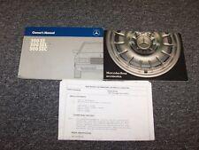 1984 Mercedes Benz 380SE 500SEL 500SEC Owner Owner's Operator Guide Manual Set