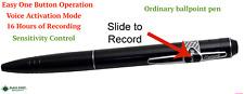 Mini Portable Ordinary Ballpoint SPY Hidden Sound Audio Voice Recorder Pen Black