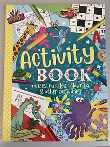 Kids Activity Book-A4- 96 pages of puzzles, colouring, mazes, learning and more!