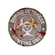 Zombie Hunting Unit Grey Logo Decal Set