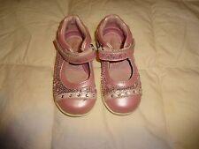 Girls Stride Rite Mary Jane shoes, sparkly pink, size 6.5, aurora