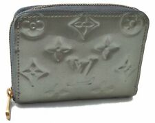 Auth Louis Vuitton Vernis Zippy Coin Purse Short Wallet Light Green LV B4207