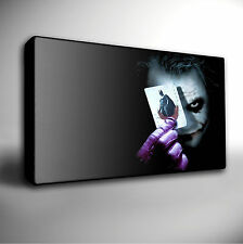 BATMAN 'THE JOKER' Heath Ledger - Stretched CANVAS Wall Art Print Picture