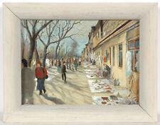 "Valeri Mashnitski (b. 1934) ""Flee-market"", oil on panel, 1989"