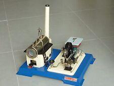 Dampfmaschine Wilesco D16 seltene Sonderedition Beige-Dunkelblau mit Tischsäge