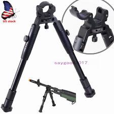"Folding Bipod Spring Return Rest For Rifle Hunting 8""-10"" Clamp-on Barrel-Mount"