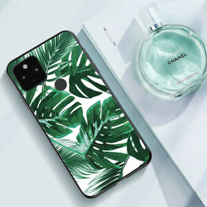 For Google Pixel 5/2/3/3a/4 XL 5G Case Green Leaves Cover Soft Tropical Style