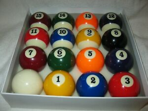 Billiard ball set complete with cue ball included !