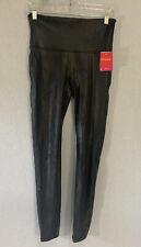 NWOT Women's SPANX Faux Leather Leggings Black Size L