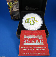 2013 2 oz Year of the Snake Colored Perth ANDA Coin Show Special Edition