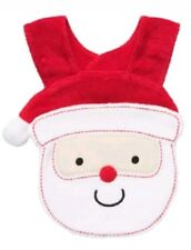 New Carters Baby Infant Boy or Girl Santa Claus Face Xmas Christmas Cotton Bib