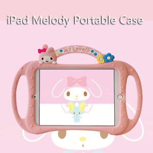 My Melody Portable Silica Gel Plus Lanyard Bracket TabletCase For Apple iPad 234