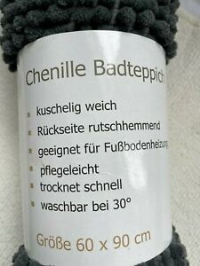 2x Chenille Badteppiche 60x90 neu