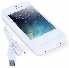 White 1.900 mA/h iPhone 4/4s Rechargeable Battery Case