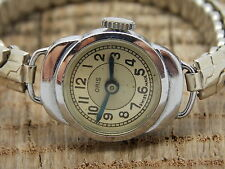 Vintage Swiss Made Ladies Oris 7 Jewels Watch Cal.280 Pure Nickel Chrome Plated