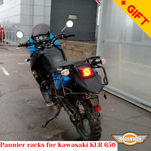 For Kawasaki KLR650 Side carrier pannier rack for cases soft bag KLR 650, Bonus