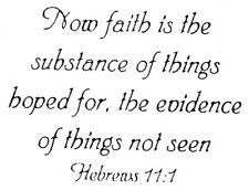 Unmounted Rubber Stamps, Christian Stamps, Bible Verses, Hebrews, Now Faith Is