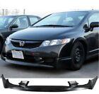 Pu Mugen Front Bumper Lip Spoiler Body Kit Fit 2009-2011 Honda Civic 4dr Sedan