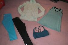 Lot of Lululemon Dress, 2 pair of Crops,  Luon Jacket and Bra sz 4
