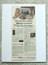 1977Amana Touchmatic Radarange Microwave Magazine Advertisement Vintage Print Ad
