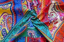 Frida Mexico Folklore Stoff Baumwolle Paysley Vorhang Kissen Tischdecke 0,5 mtr