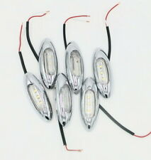 Clear/Chrome Led Marker Lamps - Pkt 6