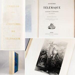 🌓 FÉNELON Aventures de Télémaque Valentin FOULQUIER ex n1 sur vergé bibliophile
