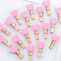 Photo Paper Clip Mini Wooden Wedding Decor Clip Crafts Pegs Z9O5 W8X6 Heart X9K9