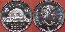 Brilliant Uncirculated 2020 Canada 5 Cents From Mint's Roll