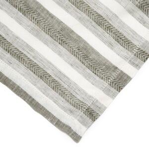 Sferra Ascot Dinner Napkins Herringbone Stripe 20x20 Set/4 New Choose Color