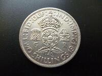 1942 Two Shilling coin in very fine condition,George 6th .500 silver florin coin