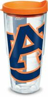 Auburn TIgers Tumbler Tervis 24 ounce NCAA Clear w/ Wrap Orange Lid