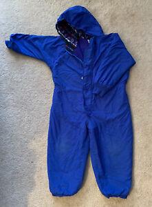 Vintage L.L. Bean Boys Snowsuit Size XS Blue Winter Wear Children Suit Cold Gear