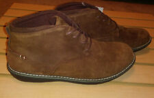 Muk Luks Mens sz 9 Charlie Leather Lace Up Chukka Boots Brown/ Coffee Sn 16386