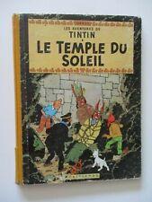 TINTIN   LE TEMPLE DU SOLEIL  4ème plat B21-bis  1957    HERGÉ  CASTERMAN