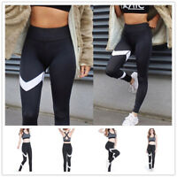 Women Lady Yoga Gym Sports Workout Leggings Run Fitness Stretch High Waist Pants