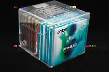 MAXELL AND TDK  MINIDISC 10 NEW BLANK DISC'S WITH  CASE CUBE