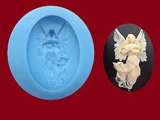 Angel Cameo stampo in silicone, Sugarcraft, DECORAZIONI PER TORTA, gioielli, Cibo Sicuro