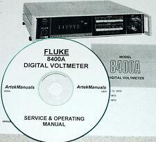 FLUKE 8400A Digital voltmeter, Manual, Operating, Service & Schematics