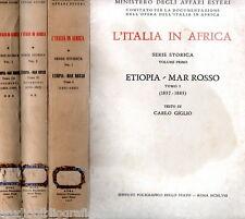 Ministero Affari Esteri L'ITALIA IN AFRICA ETIOPIA MAR ROSSO (1857-1885) 3 voll.