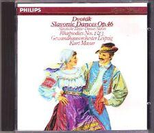 Kurt MASUR: DVORAK Slavonic Dances Op.46 Rhapsody Op.45 No.1 3 Gedwandhaus CD
