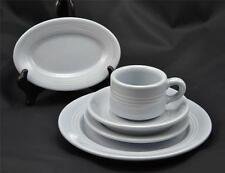 Vintage 1950s Buffalo China Blue Lune Striped Restaurant Ware 5 Pc Place Setting