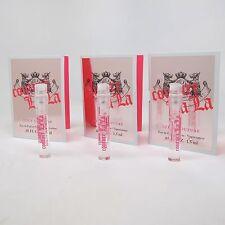 COUTURE LA LA by Juicy Couture 1.5 ml/0.05 oz Eau de Parfum Spray Vial LOT OF 3