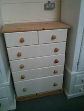 OLD MILL FURNITURE COUNTRY 4+2 JUMPER CHEST CREAM WITH WAXED TRIM NO FLAT PACKS